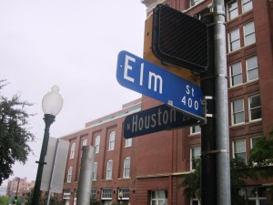 Houston and Elm Streets