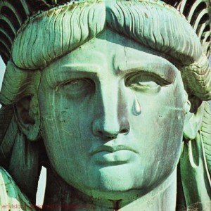 statue of liberty tears